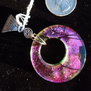 Jewelry - Handcrafted .925 Dichroic Glass Pendant